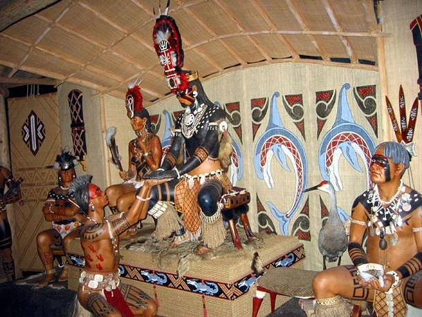 A diorama of a Calusa chief in the Florida Museum of Natural History.