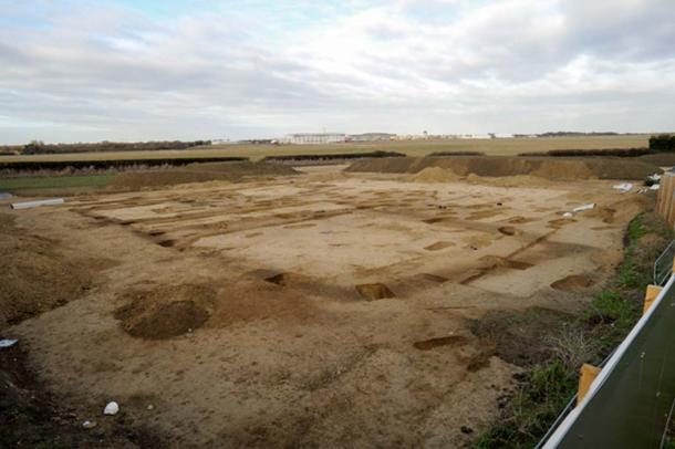 The Cambridge site during excavations.