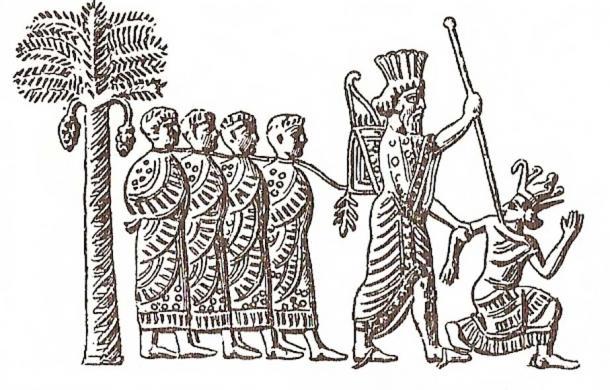 Cambyses II of Persia capturing pharaoh Psamtik III. Image on Persian seal, VI century BC. (Public Domain)