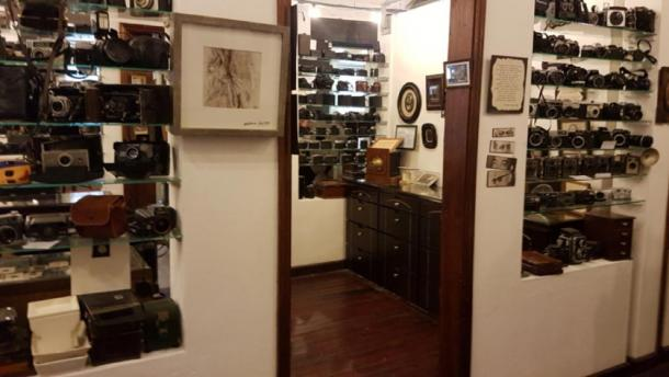 Cameras on display in the Photography Museum Mauritius (Image: Courtesy Micki Pistorius)