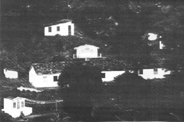 Photo of a Candomblé temple in Bahia, Brazil.
