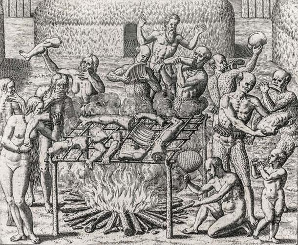 Cannibalism in Brazil, People being ritually devoured