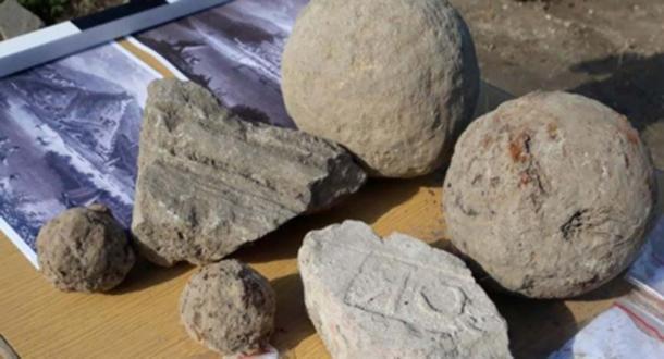 Cannonballs and other artifacts found at Zishtova Fortress. (Svishtov Municipality)
