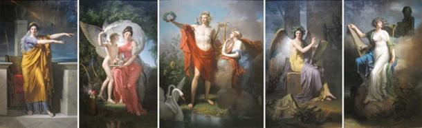 Canvas Painting Oil Apollo And The Muses Museum. (CC0)