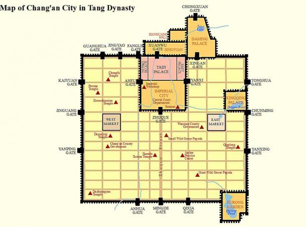 The capital of the Nara period, Nara, was modelled after the organized and carefully planned Tang dynasty capital of Chang'an. (SY / CC BY-SA 4.0)