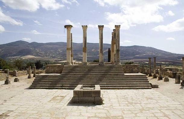 Capitoline Temple, Volubilis. (Prioryman/CC BY SA 3.0)