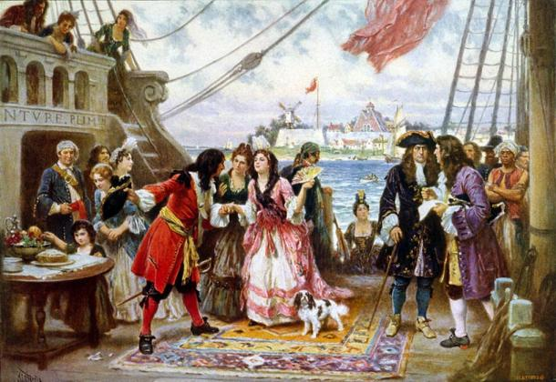 'Captain Kidd in New York Harbor' by Jean Leon Gerome Ferris, 1863–1930