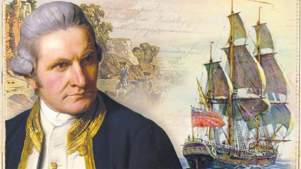 Captain James Cook and the Endeavor (Image by jamescook250)