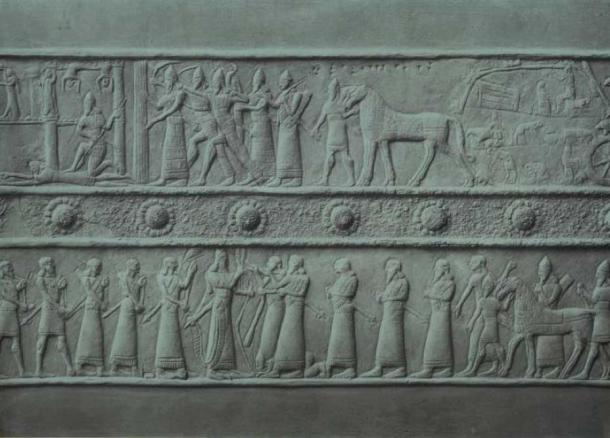 Bronze band from the Palace Gates of Shalmaneser III in the British Museum.
