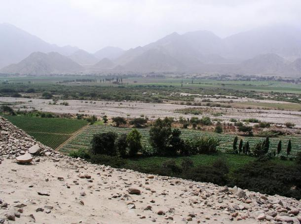 Residents of Caral-Supe lived on a desert terrace above the Supe River Valley, which is green for part of the year.