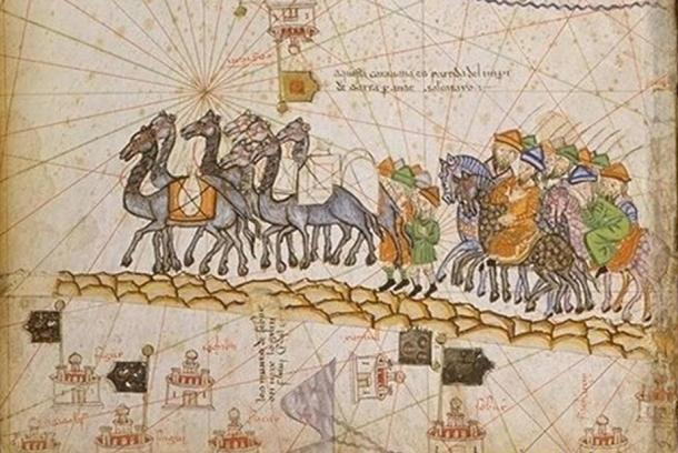 Caravan on the Silk Road (1380 AD).