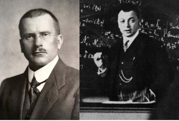 Carl Jung (Public Domain) and Wolfgang Pauli (Public Domain) crafted the paradox of probability to predict outcomes.