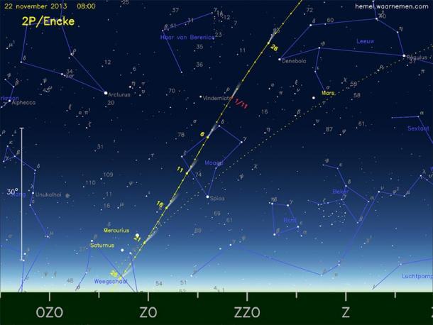 Caroline Herschel observed comet 2P/Encke. (AstroFloyd / CC BY-SA 3.0)