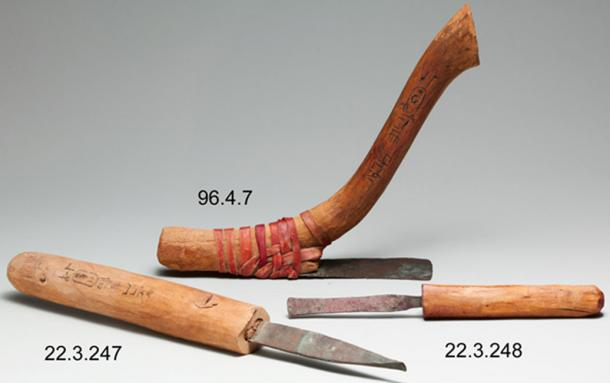 Carpenter's Adze from a Foundation Deposit - Hatshepsut's Temple. (Pharos / Public Domain)