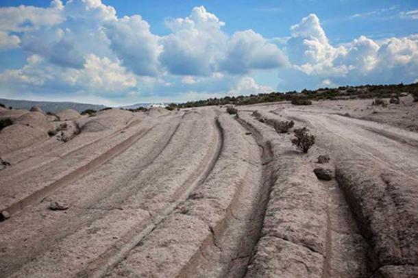 'Cart rut' tracks in Sofca, Turkey. (Author provided)