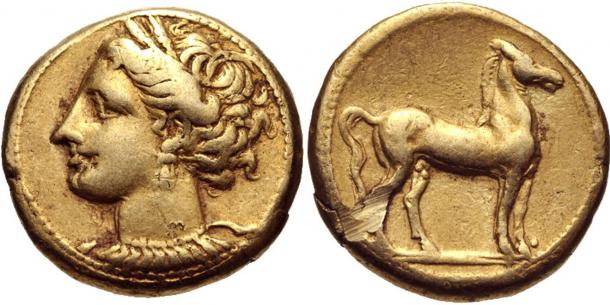 Carthaginian coins from circa 310–290 BC. Representational image only.