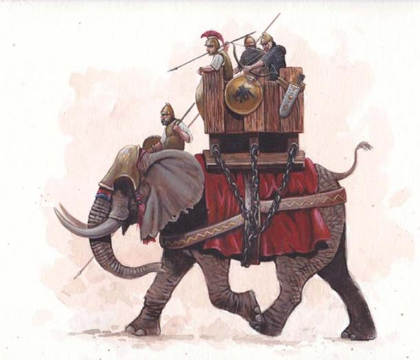 Carthaginian war elephant, (used by permission Alexander Lunyakov of blackpen shop)