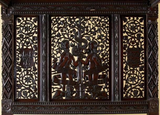 Carved portraits. (The Langley Collection)