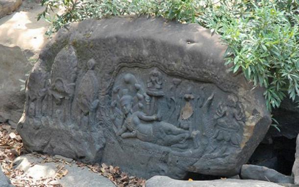 Carvings at Kbal Spean, Phnom Kulen.