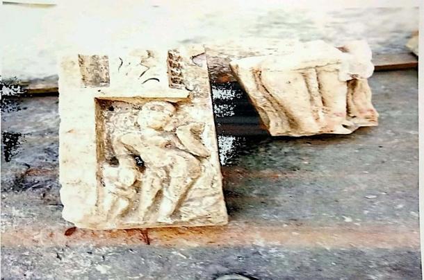 Carvings of deities excavated at the Ayodhya site. (Shri Ram Janmbhoomi Teerth Kshetra Trust)