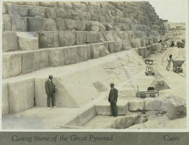 Casing Stone of the Great Pyramid, Cairo by Harry Pollard (CC BY 2.0)