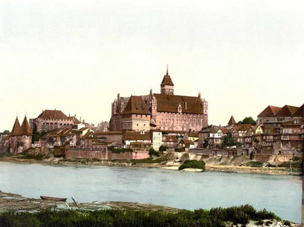 Castle in 1890/1905, during the German Empire.
