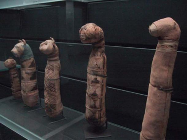 Cat mummies at the Louvre Museum in Paris. (Zubro / CC BY-SA 3.0)