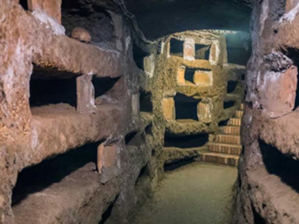 Catacombe di San Pancrazio under the basilica in Trastevere, Rome. (Frankix / Adobe Stock)