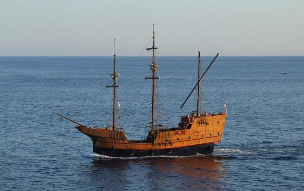 The Cattewater is said to have looked something like this replica of this Croatian trading ship (15th and 16th century).