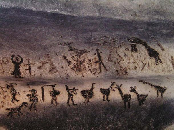 Cave art in Magura cave from between 10000-8000 years ago. (Public Domain)