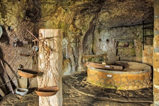 Cave of Saint Bonaventure beneath the historic town of Civita di Bagnoregio. (Art Media Factory / Adobe Stock)