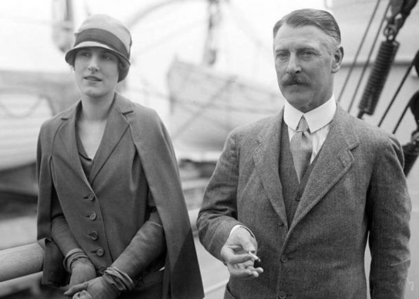 Cecil and Mary Chubb, the last private owners of Stonehenge. (Image: George Grantham Bain/Library of Congress)