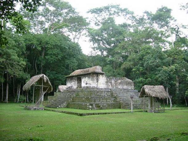 Ceibal temple, South Plaza.