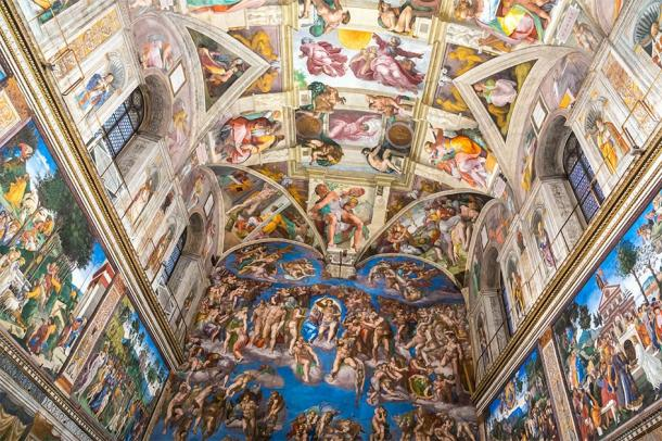 Ceiling of the Sistine Chapel in the Vatican City. (Sergii Figurnyi / Adobe stock)