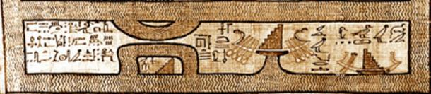 Figure 4. Celestial barque from the Egyptian Book of the Dead.