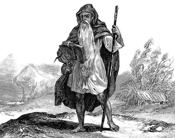 Illustration of a Celtic Druid