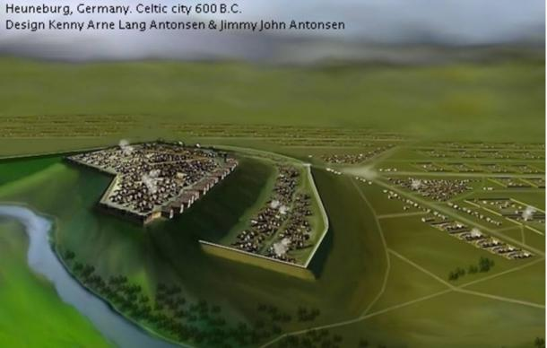 Reconstructed Celtic Heuneburg in 600 BC.