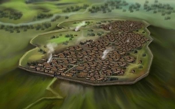 Celtic Oppidum, Central Europe 1st century BC.