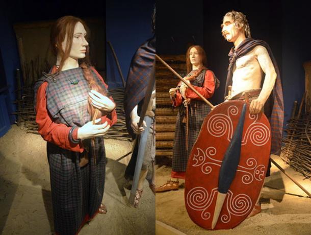 Celtic costumes par in Przeworsk culture (3rd century BC, La Tène period), Archaeological Museum of Kraków.