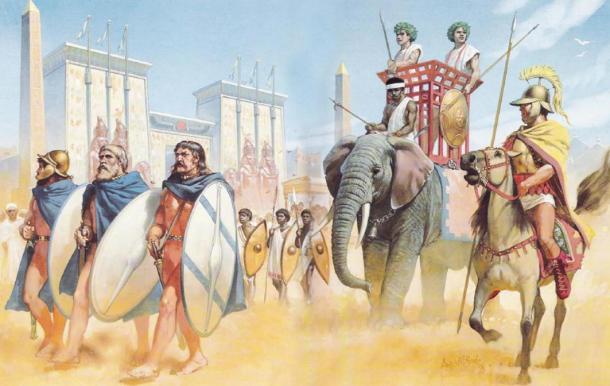 Celtic soldiers (bottom left) in Egypt