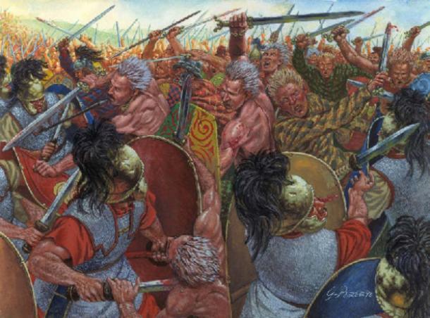 Celts fighting Romans.