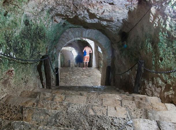 Cenote passageway at Chichen Itza