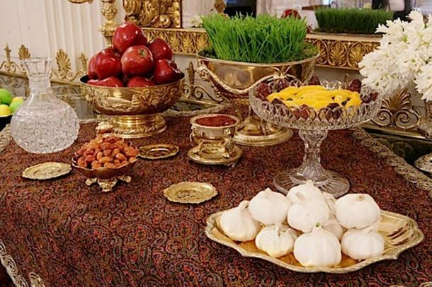 Ceremonial Haftsin spread in the White House