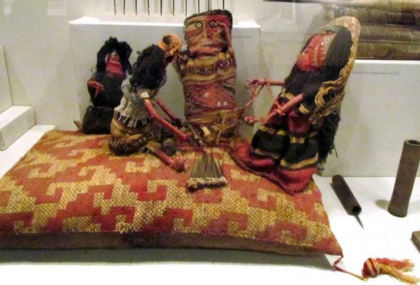 Chancay dolls. Larco Museum in Lima, Peru.