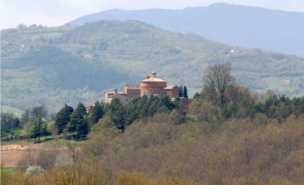 Chapel on top of Montesiepi, Siena