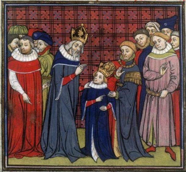 Charlemagne and his son, Louis the Pious.