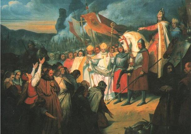 Charlemagne receiving the submission of Widukind at Paderborn in 785, by Ary Scheffer (1795–1858), Palace of Versailles.