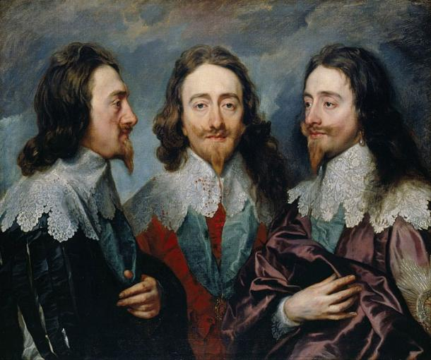 Charles I in Three Positions by Sir Anthony van Dyck, 1635–36. (Public Domain)