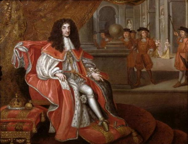 Charles II at court (Public Domain)