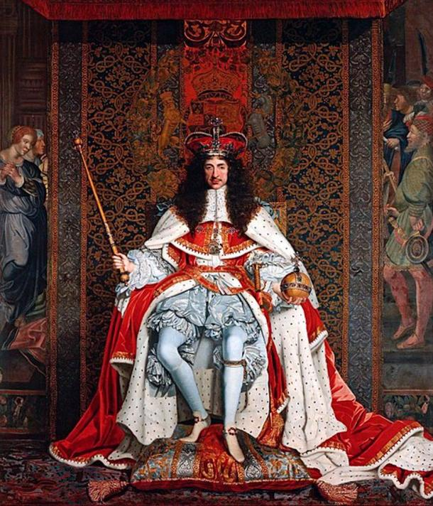 Charles II of England in Coronation robes.